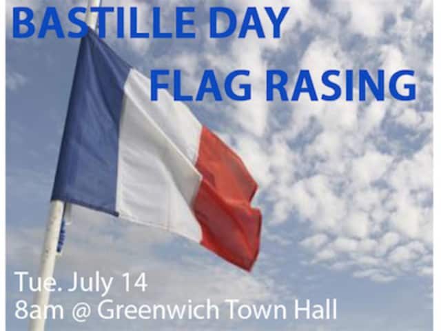 Celebrate France's independence July 14 at Greenwich Town Hall.