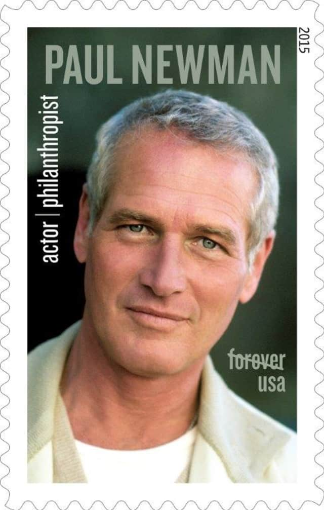 Paul Newman is honored on a forever stamp for his philanthropic work.