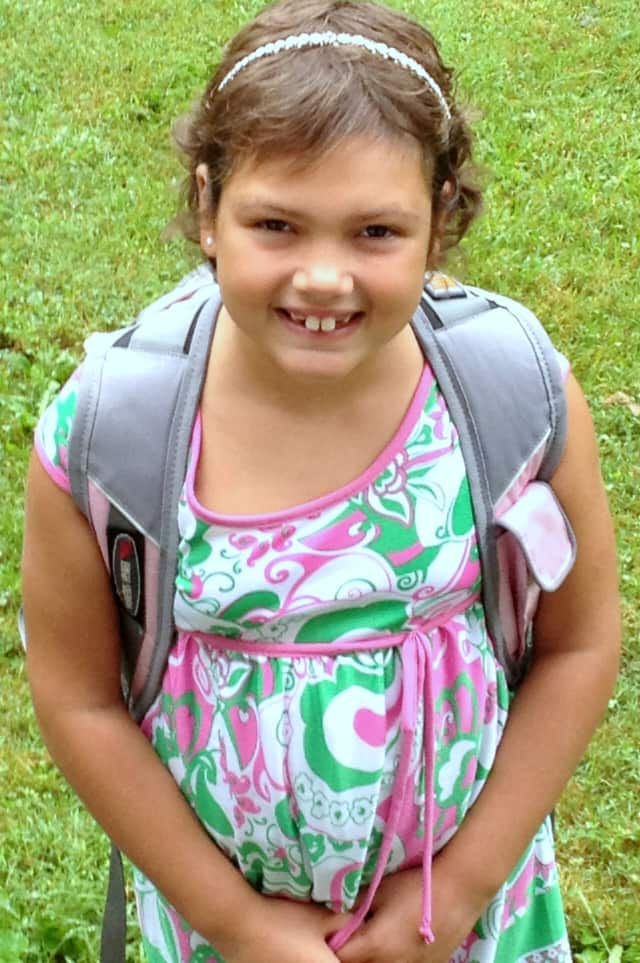 Sabrina Marciante, 8, of South Salem will be honored at the Light the Night event in White Plains on Nov. 27.