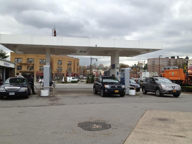 Despite rising prices, Eastchester gas stations are still plenty busy.