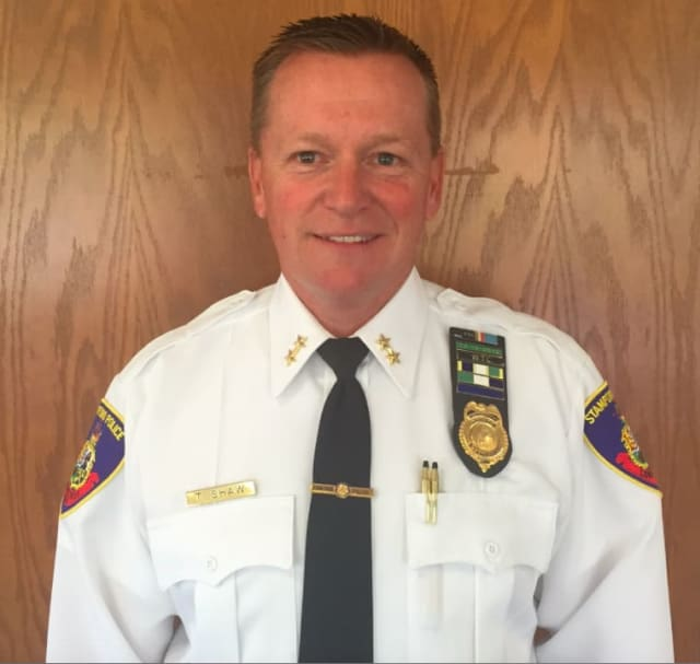 Easton's Police Chief Timothy Shaw came to the job after serving as Assistant Chief at the Stamford Police Department.