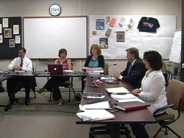 Bedford Central's school board at its July 1 re-organizational meeting.