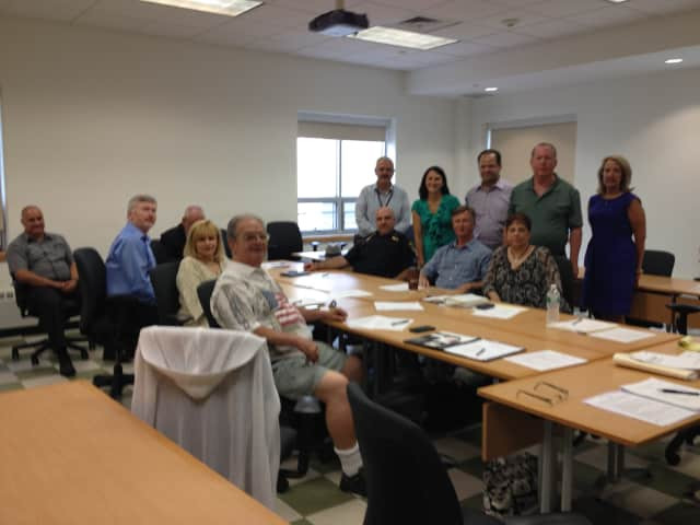 """Putnam Long Term Recovery Coalition officers share the IBM """"Training the Trainer"""" Disaster Preparedness with other members."""