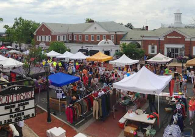 The Village Fair & Sidewalk Sale takes over downtown New Canaan.