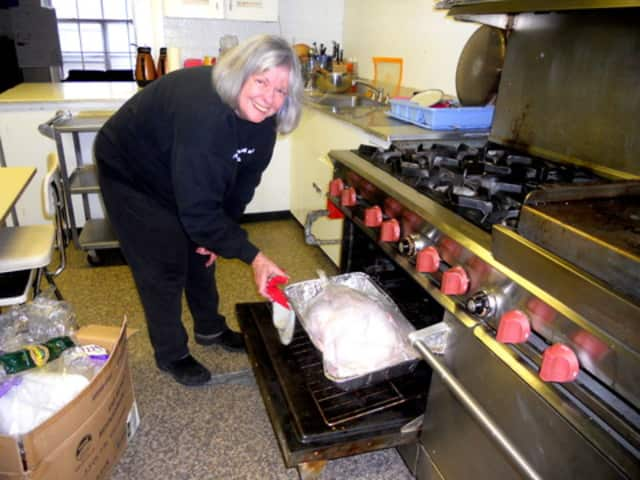 First Presbyterian Church secretary Sue Sincerbeaux was cooking a 20-pound turkey in November 2011 in preparation for Thanksgiving Day lunch.