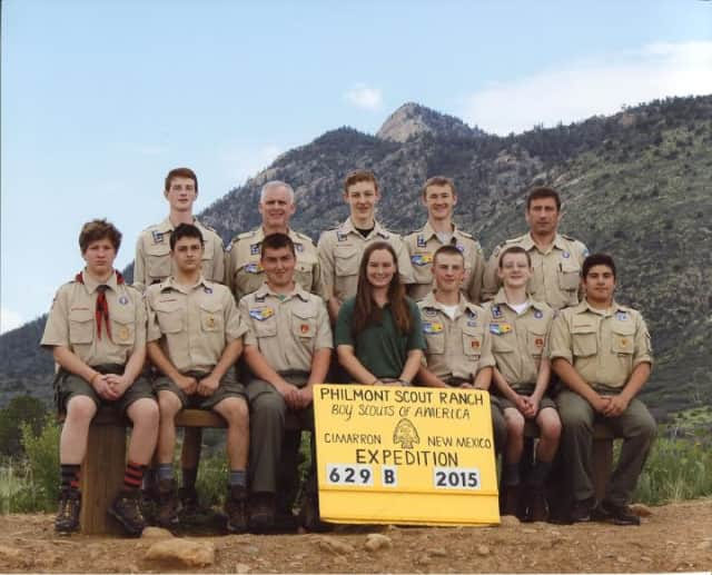 These Greenwich Scouts and their leaders recently went on a trek through the Sangre de Cristo Mountains in New Mexico.