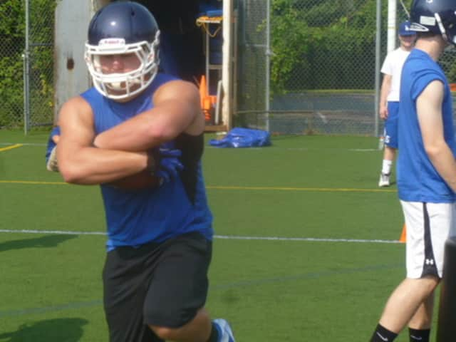 Dobbs Ferry junior Tim Soave will participate in a national high school football evaluation in January.