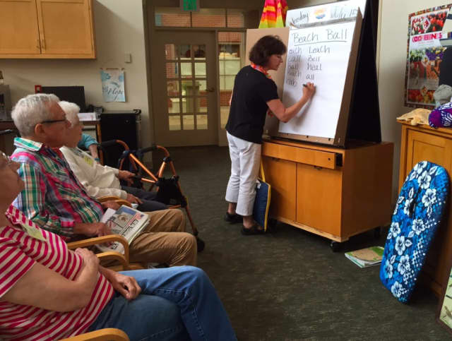 Waveny LifeCare Network's Adult Day participants recently took part in its Surf's Up event.