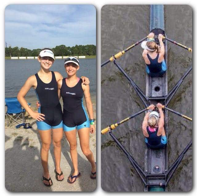 Jennie Brian and Alexandria Salazar finished ninth overall at the U.S. Nationals Rowing Championships June 12-14 in Sarasota, Fla.