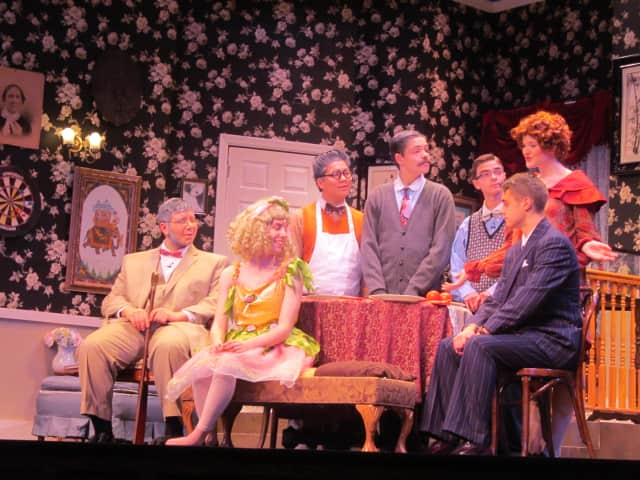 """Pelham High School students perform in """"You Can't Take It With You"""" on Sunday."""