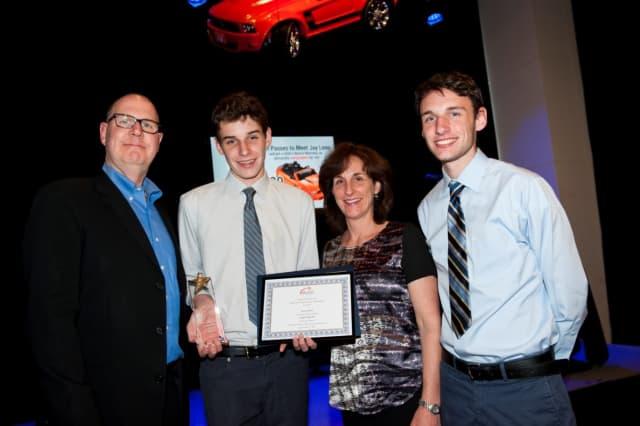 Ellis Jones with his Emerging Young Artists Award.