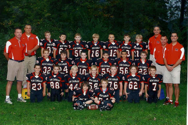 The New Canaan third-grade football team finished undefeated and won the Fairfield County Football League championship.