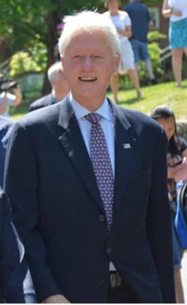 Bill Clinton at New Castle's Memorial Day ceremony.