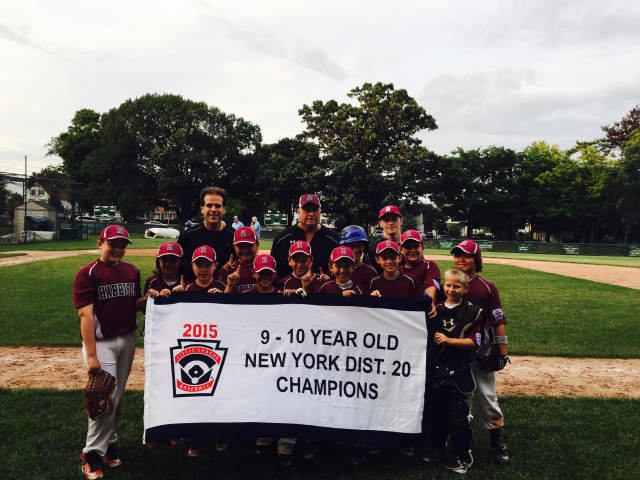The Harrison 10U Little League squad are the 2015 District 20 champions after beating Sherman Park in the title game on July 15 in Port Chester.