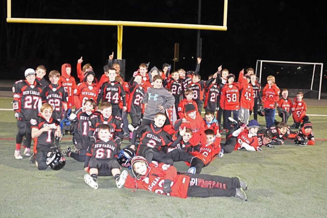 The New Canaan 5th-grade football teams shared the championship in the Fairfield County Football League.