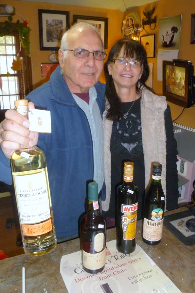 Jay and Elyse Goldstein, owners of Salem Wine & Liquors in South Salem, with some of their Thanksgiving recommendations.