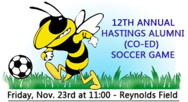 Hastings alumni soccer players meet for the 12th time in an annual game.