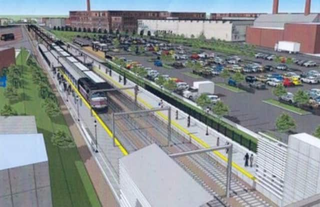 An artist's rendering of the proposed Barnum Station.