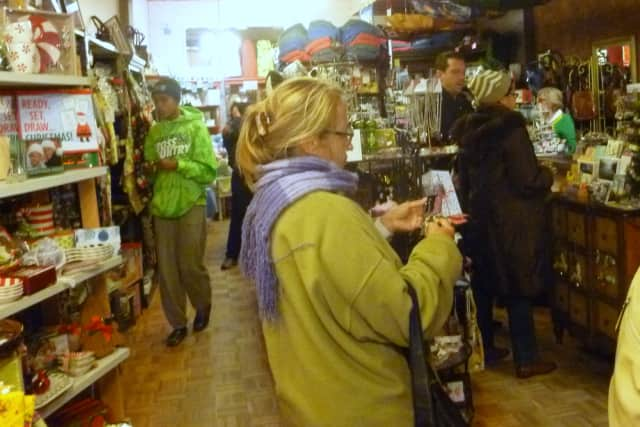A boutique is filled with customers on a previous Small Business Saturday.