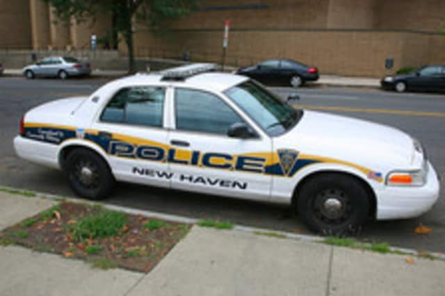 A Stamford man was grazed with a bullet while sitting in his car near a basketball court in New Haven on Sunday night.