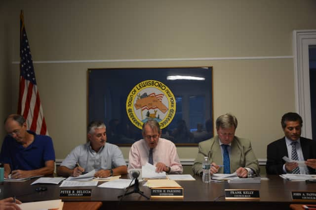 The Lewisboro Town Board at its meeting on Monday.