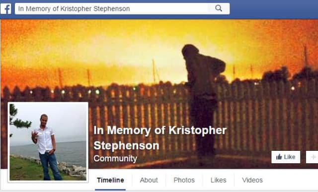 A screen shot of a Facebook page set up in memory of Brewster's Kristopher Stephenson.