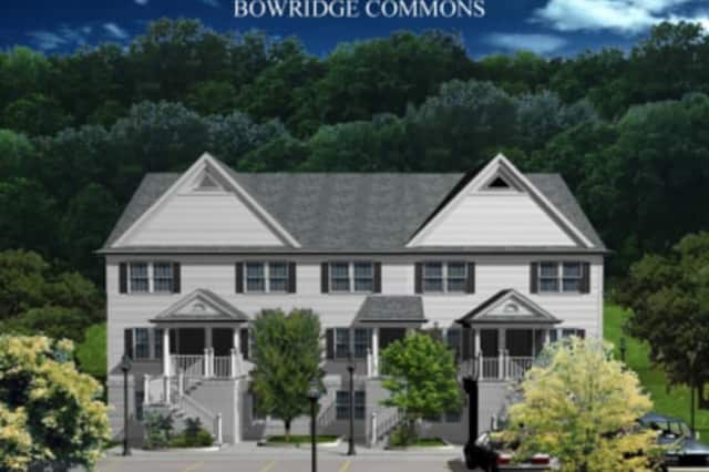Bowridge Commons, an approved affordable housing project at 80 Bowman Avenue in Rye Brook, appears in the rendering above.