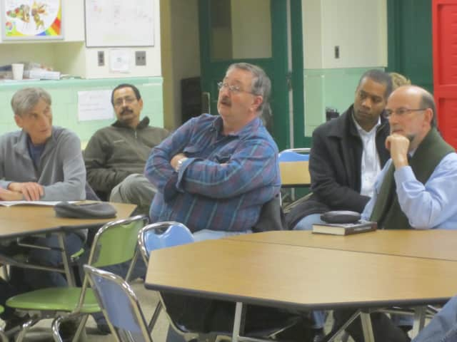 Ossining residents weigh in on the Ossining School District's search for a new superintendent during a meeting Tuesday night at Roosevelt School.