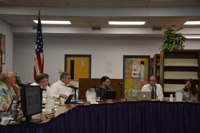 The Katonah-Lewisboro school board at its meeting on Thursday, July 30.
