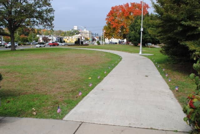 The Veterans' Walkway of Honor in Danbury will be made of commemorative bricks honoring those who have served in the military.