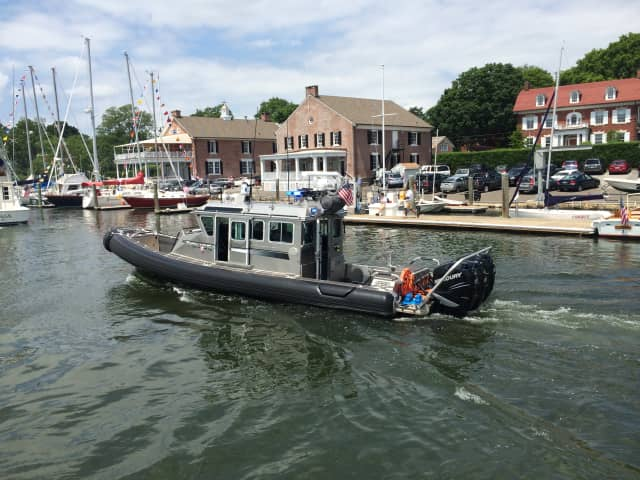 The Fairfield Police Marine Unit rescued two Bridgeport men stranded in Black Rock Harbor after their boat capsized, according to the Connecticut Post.