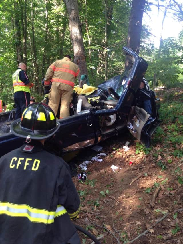 A person was seriously injured following a car accident in Croton Falls.