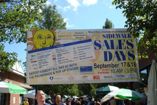 The Mount Kisco Chamber of Commerce's Sidewalk Sales Days drew big crowds in 2012.