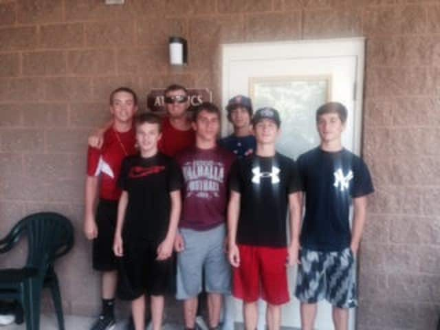 Max Cavalo, Michael Ferrara, Brody McGuinn, Evan Parker and brothers Luke and Christian Ursillo of Valhalla traveled to Williamsport from Aug. 2-7 to compete in the Little League Baseball Camp.