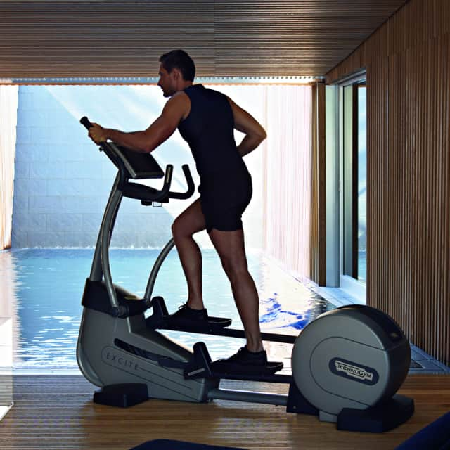 Technogym equipment at Saw Mill Club allows users to monitor their exercise data and craft a specific workout plan.