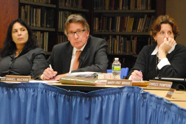 Interim Superintendent of Chappaqua Schools Daniel McCann, center, is to hold an informal conversation with town residents on Jan. 11 at Horace Greeley High School.