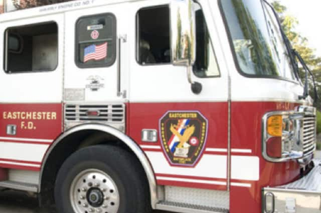 Eastchester firefighters extinguished a blaze on Greenvale Road Wednesday morning.