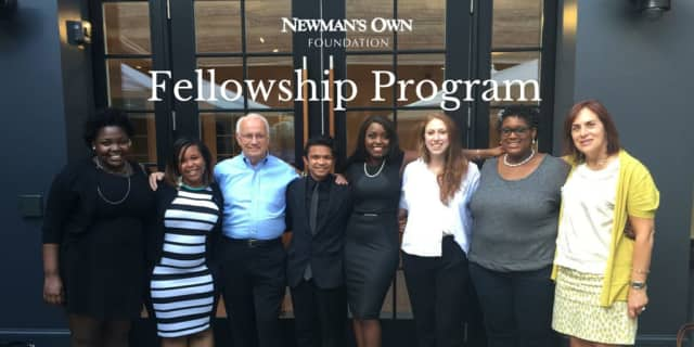 Newman's Own Foundation's first class of fellows: Ebiere Awudu, Ashley Boyd, Ray Llena, Rose Pierre-Louis, Karimah Shabbaz and Paige Ziplow.