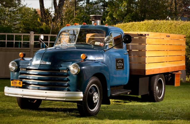 Pizza Luca's mobile pizza oven will serve fresh pies at the John Jay Homestead Farm Market.