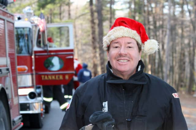 North Salem Councilman Bruce Buchholtz at the 1st annual Croton Falls Fire Department candy cane run.