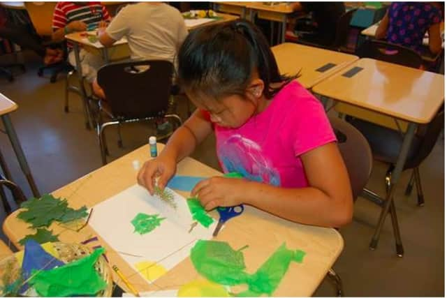 Joy Serdena, one of many rising 5th graders participating in the Summer Enrichment Program at Hamilton Avenue School this summer.