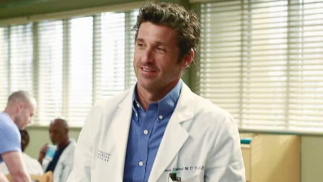 "Patrick Dempsey in his role as Dr. Derek Shepherd on ""Grey's Anatomy."""