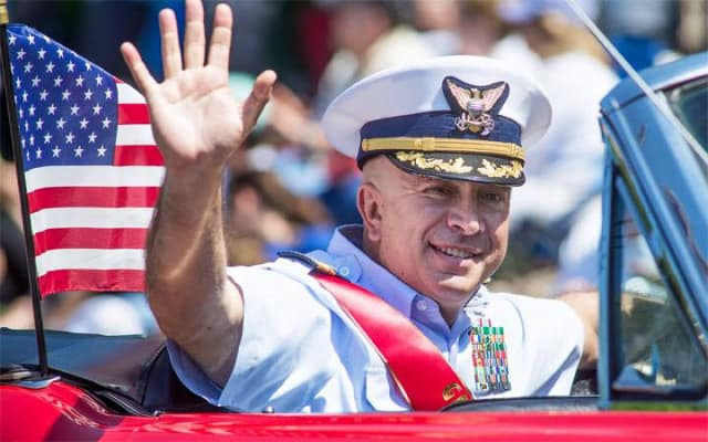Weston Police Sergeant Mike Ferullo was the Grand Marshal this year for Weston's Memorial Day parade.