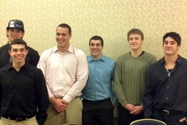 Members of the Somers High School football team attended the Section 1 Banquet in White Plains.