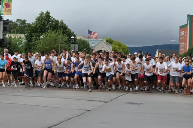 The Ossining Matters Education Foundation 5K Run/2 Mile Walk takes place Sept. 12. Above, runners prepare to step off in 2011.