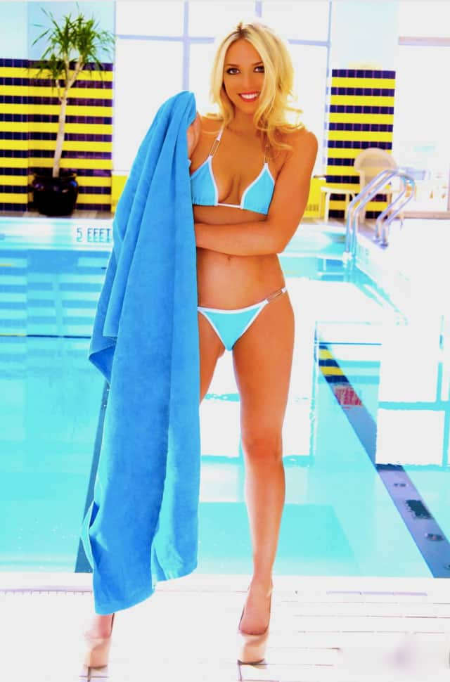 Bronxville resident Cynthia Florek recently released a swimsuit calendar titled Cynthia 365, which can be bought on her website.