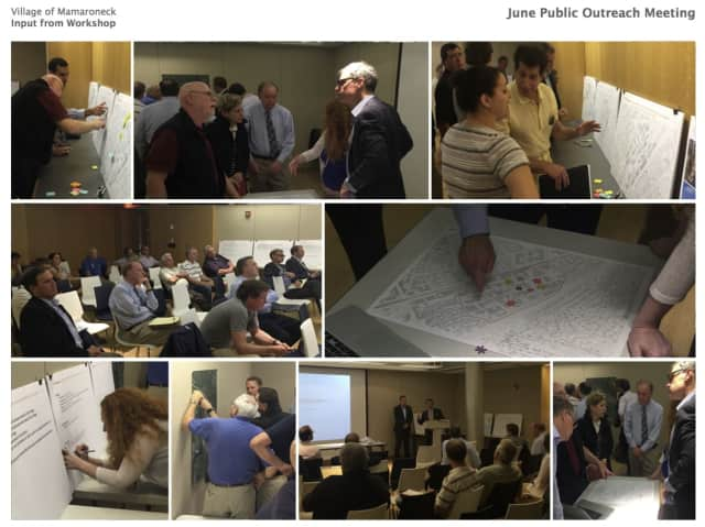 Some scenes from the June meeting on the revitalization of the Mamaroneck village industrial area.