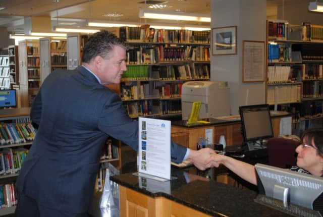 Senator Terrence Murphy at a local library.