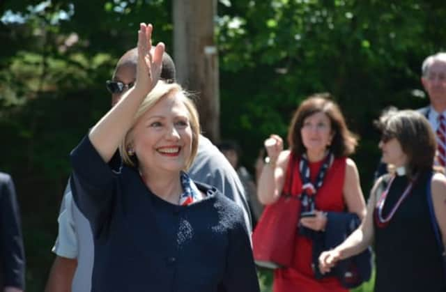 Chappaqua resident Hillary Clinton called Bedford resident Donald Trump's presidential campaign 'entertainment' in comments to reporters yesterday in New Hampshire.