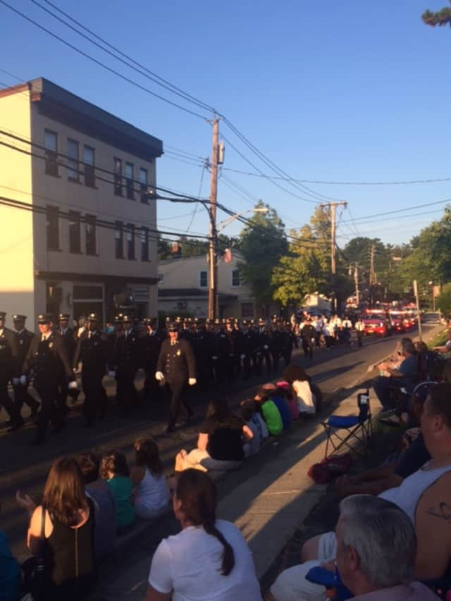This was the scene at a previous Ossining fireman's parade